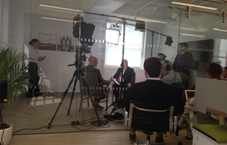 Media training at Coltrin's New York office