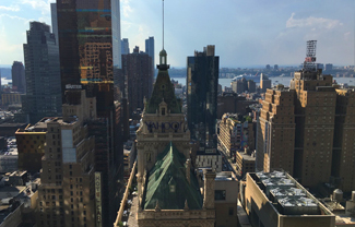 view from Coltrin's New York office terrace