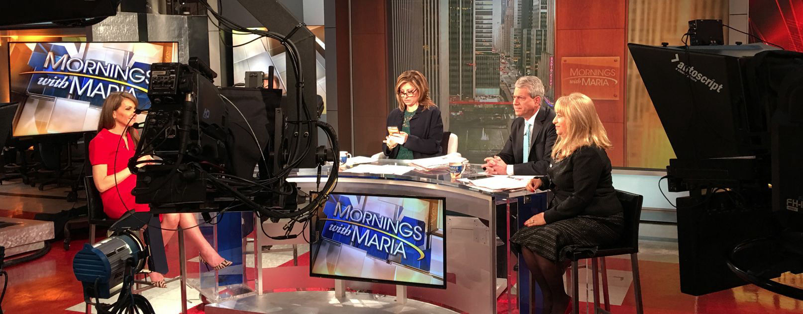 Coltrin & Associates' client on the set of FOX Business' Mornings with Maria