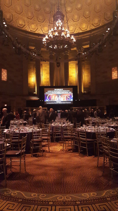 15th Annual Library of American Broadcasting Foundation's Giants of Broadcasting & Electronic Arts Luncheon in the grand ballroom of Gotham Hall