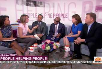 Jenny Ahlstrom and husband Paul on the TODAY Show discussing the mission of HealthTree.org