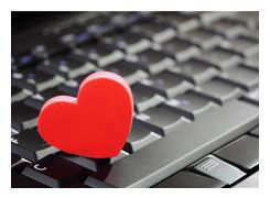 Heart on keyboard