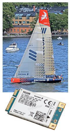 Ericsson boat in the 2008-2009 Volvo Ocean Race and Ericsson mobile broadband card