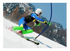 Downhill skiing event